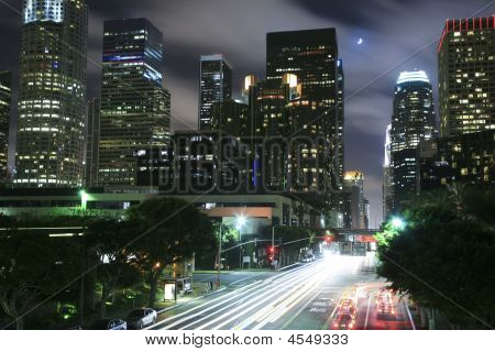 Los Angeles Cityscape At Night