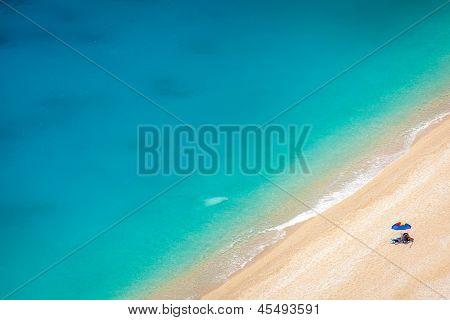 Detail From Egremni Beach, Lefkada, Greece