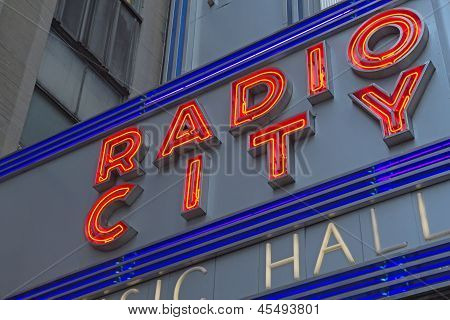 Radio City Hall Sign