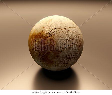 Jupitermoon Europa Blank