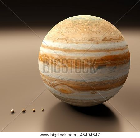 Jupiter With Moons Blank