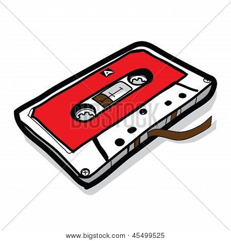 Cassette Tape - Hand Drawn