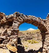 Ruins in Bolivian mountains