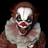 stock photo of ghoul  - Scarier Clown 1 - JPG