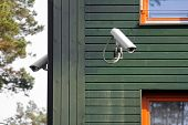 pic of precaution  - two security cameras on the building walls - JPG