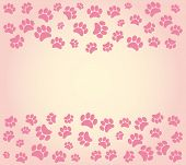 pic of dog footprint  - Background animal footprints vector illustration - JPG
