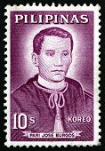 Postage Stamp Philippines 1963 Father Jose Burgos, Portrait