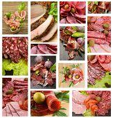 Постер, плакат: Мясо и колбасные изделия коллекции