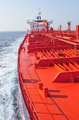 foto of crude-oil  - Tanker crude oil carrier ship designed for transporting natural gas sailing - JPG