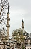 stock photo of constantinople  - Eyup Sultan Mosque built in 1458 it was the first mosque constructed by the Ottoman Turks following the Conquest of Constantinople in 1453 - JPG