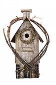 Weathered Wooden Birdhouse poster