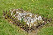 stock photo of empty tomb  - Outdoor Tomb in rural english graveyard essex - JPG
