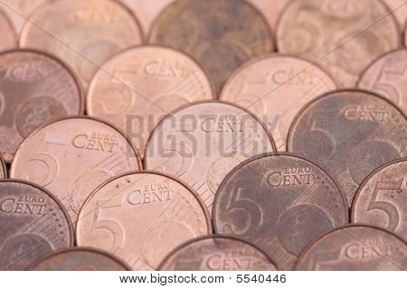 Five Euro Cent Coins