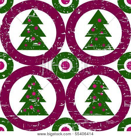 Cool modern grunge geometric Christmas tree background