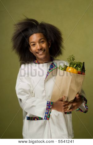 Young African American Happy Chef
