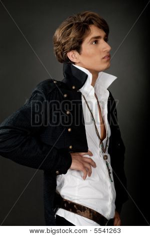 Side View Of Male Model Stock Photo & Stock Images | Bigstock