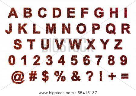 Metal grunge alphabets