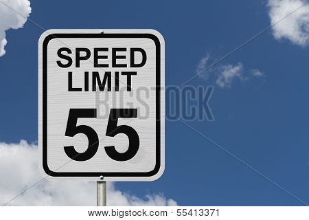 Speed Limit 55 Sign