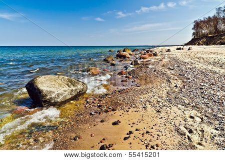 Beautiful Baltic Beach: Sea, Rocks And Sand