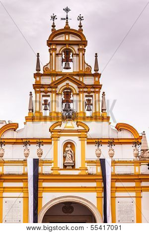Basilica De La Macarena Bell Tower Bronze Bells Catholic Church Seville Spain