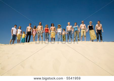 Crowd Of Sunbathers