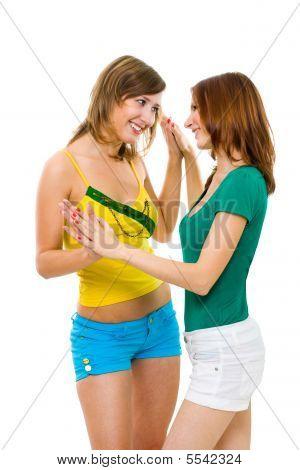 Two Women Friends Have Fun