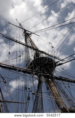 Mast Yards And Rigging