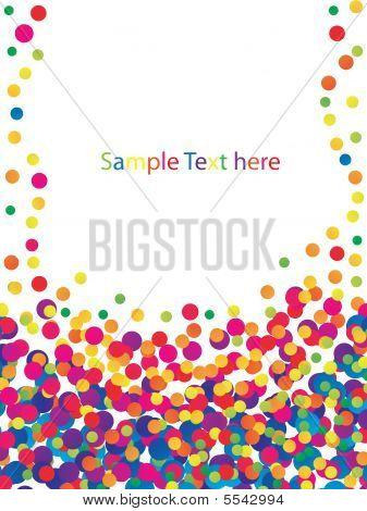 Colorful Confetti Frame
