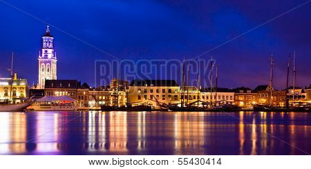 Kampen Harbor Blue Hour