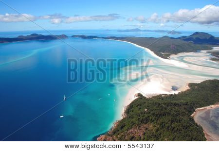 Aerial View Of Whitehaven Beach, Queensland, Australia