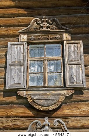 Window In Old Timbered Wall