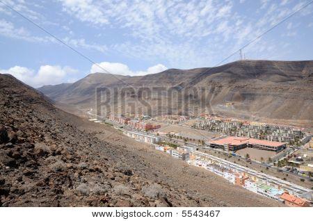 Town Morro Jable, Canary Island Fuerteventura