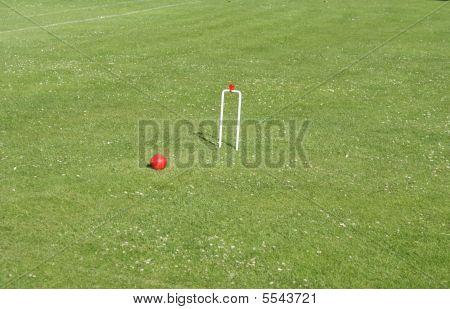 Croquet Ball And Goal