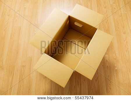 Empty brown carton box