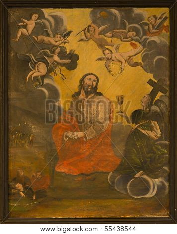 Jesus In Gethsemane Painting At The Local Church.