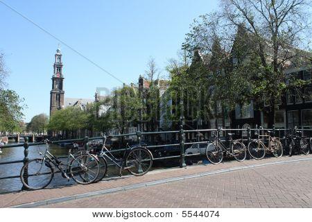 Amsterdam - Bikes Over Bridge