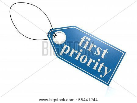 First priority label