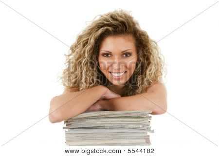 Young Woman With Magazines