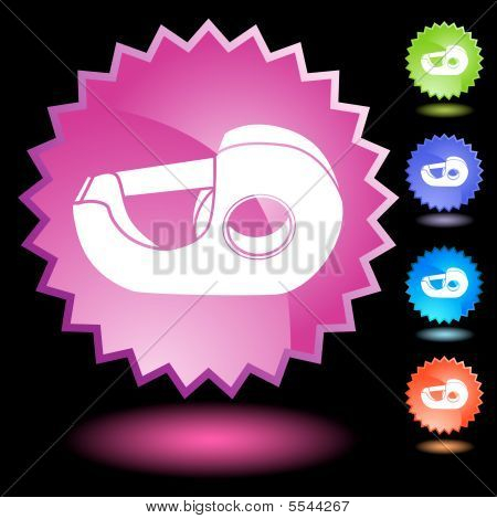 tape dispenser icon neon