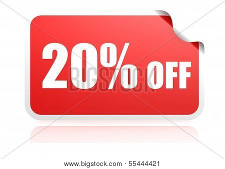 20 percent off sticker