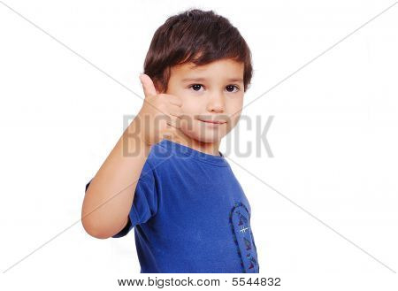 Kid With Thumb Up