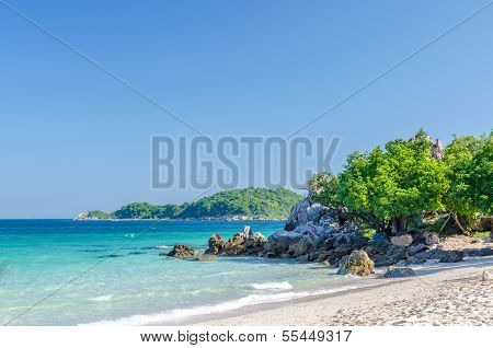 Rock Sea And Blue Sky At Ta-yai Beach