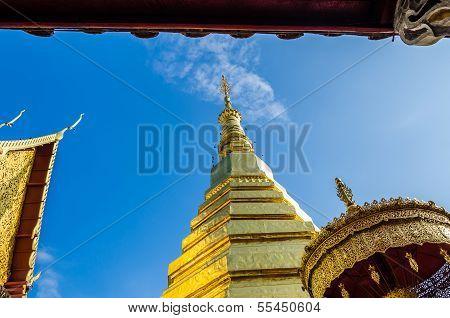 Golden Pagoda At Wat Phra That Cho Hae