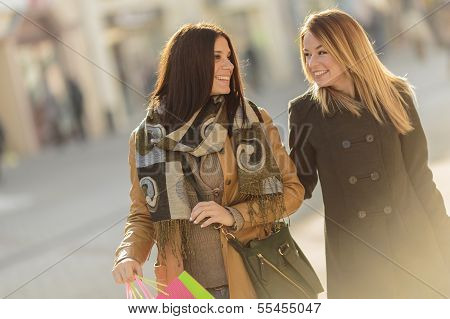 Young Women On The Street