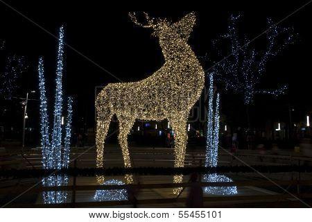 Lighting deer