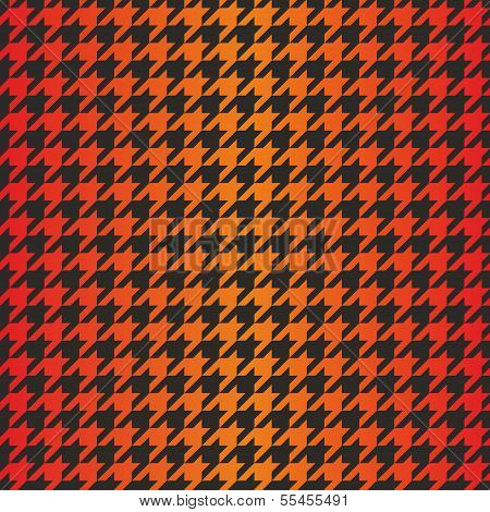 Houndstooth seamless vector dark pattern. Traditional Scottish plaid fabric with gradient color
