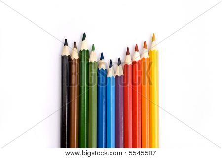 A set of colorful pencils