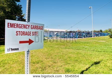 Emergency Garbage Storage Site