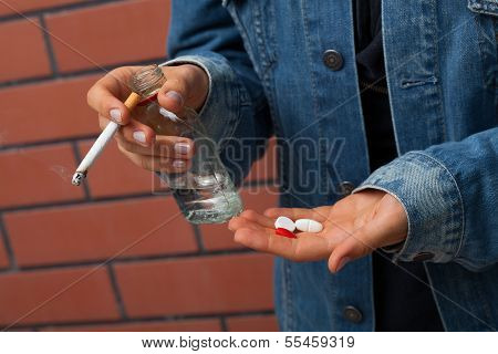 Vodka, Cigarette And Pills
