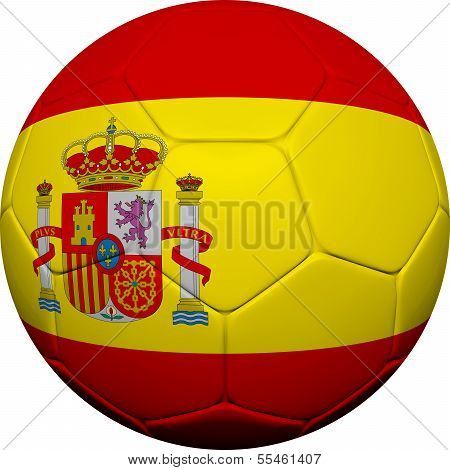 Spanish Flag With Soccer Ball